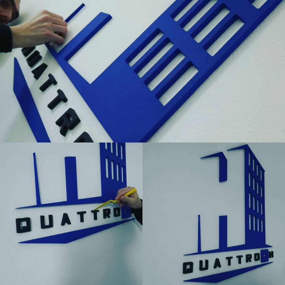 realizované 3D logo Quattro H