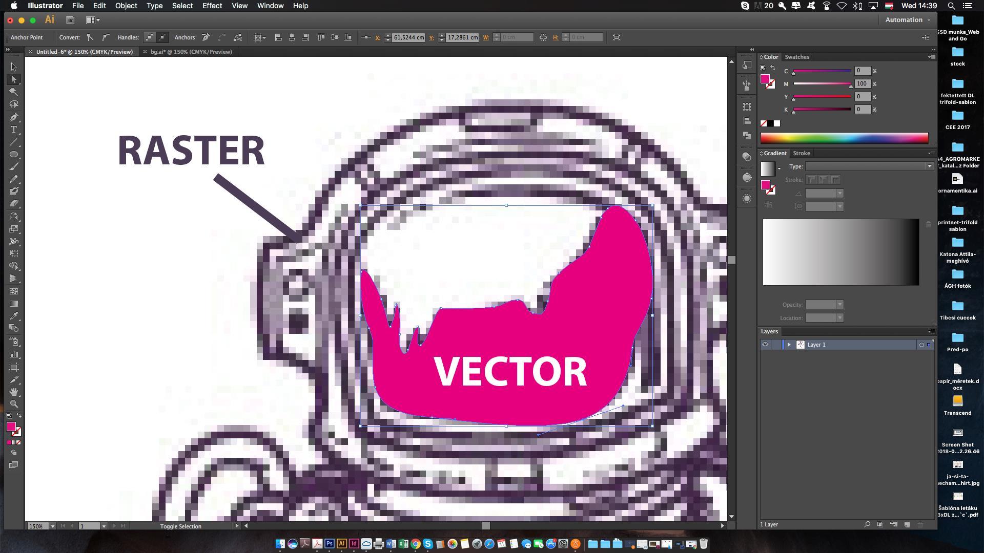 rozdiel medzi rasterovou a vektorovou grafikou