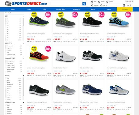 Webdizajn - Sports Direct