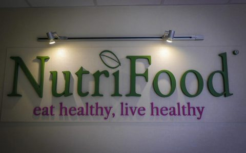 Polytyrénové 3D logo - Nutrifood
