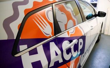 Samolepky na auto, polep auta - HACCP