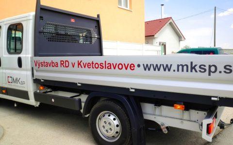 Polepiť nákladné auto