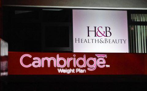 Svetelná reklama - Cambridge