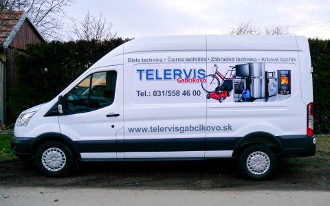 Reklamný polep auta - Telervis