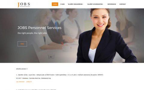 Webová stránka v CMS