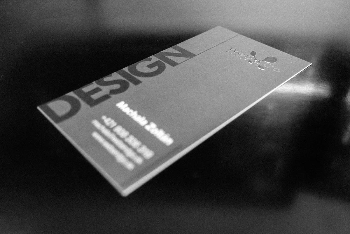 Dizajnové vizitky s 3D lakom