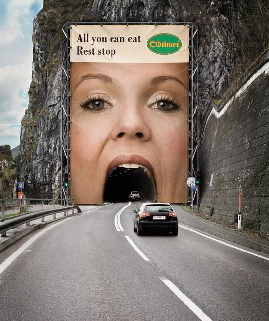 nápaditý billboard