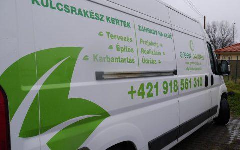 Polep auta - Green Garden
