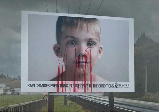 Placuci chlapec billboard