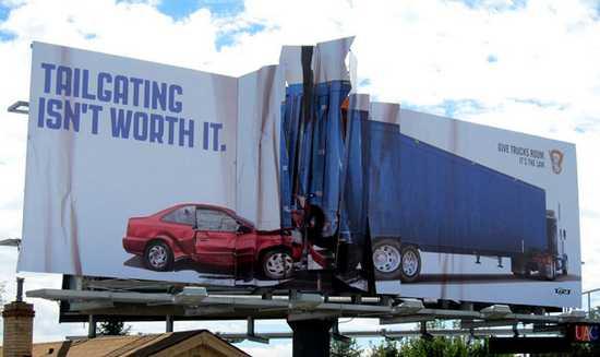 billboard na rychlu jazdu autom