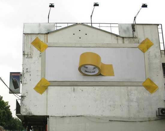 billboard na lepiacu pasku
