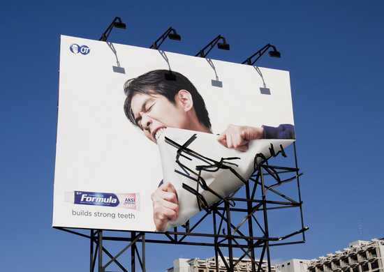 billboard na silne zuby