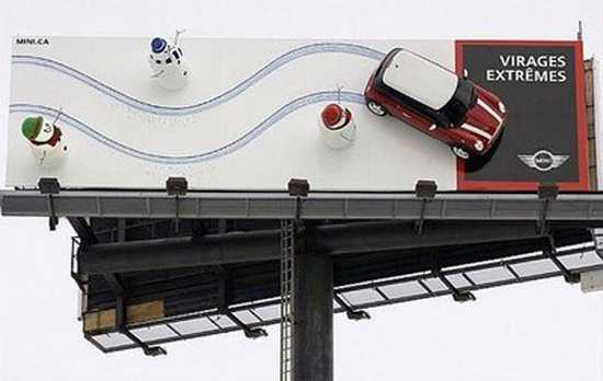 3D billboard na mini coope