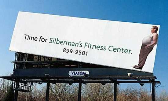 kreativna reklama na fitness centrum