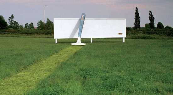 3D billboard na ziletku