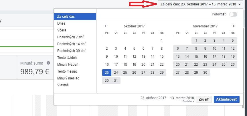 reklama facebook - kalendar