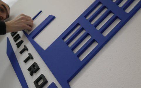 3D nápis - logo z PVC