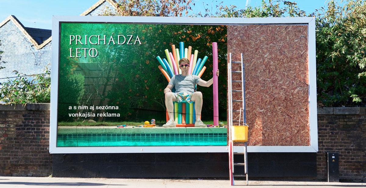 sezónna vonkajšia reklama