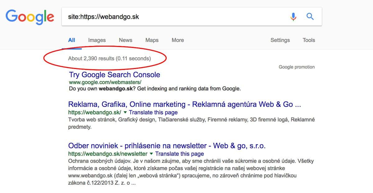 indexácia podstránok - Google Search Console
