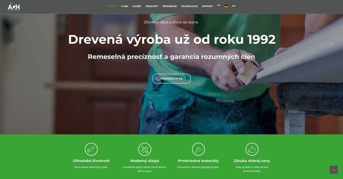 webdizajn pre Ágh stolárstvo