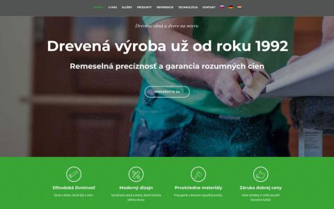webstránka pre drevovýrobu