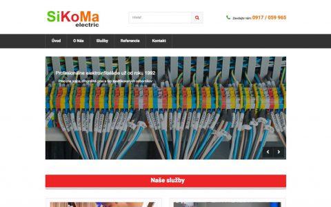 webstránka sikoma - elektroinštalácie