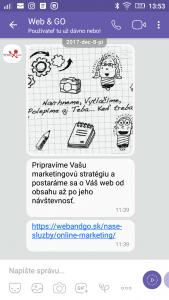 PMM reklama na chatovacej aplikácie Viber