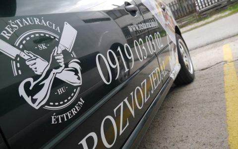 Polep auta - Reštaurácia SK & HU Étterem