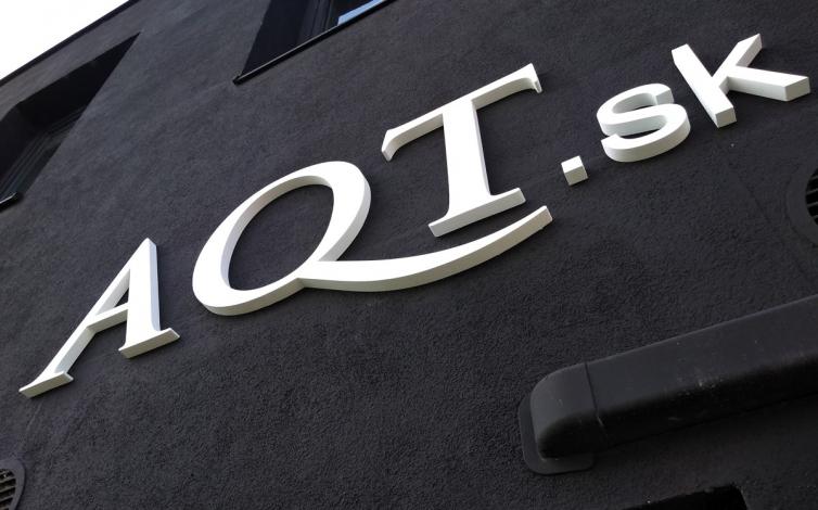3D logo PVC - AQT Bratislava
