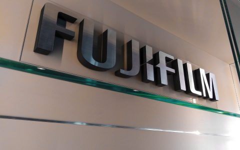 3D logo interiér - Fujifilm