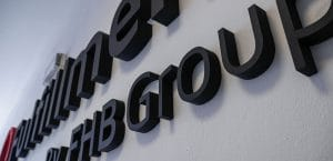 3D Logo pre spoločnosť FHB group