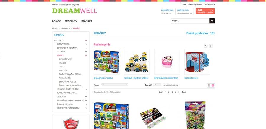 Náhľad webstránky www.dreamwell.sk