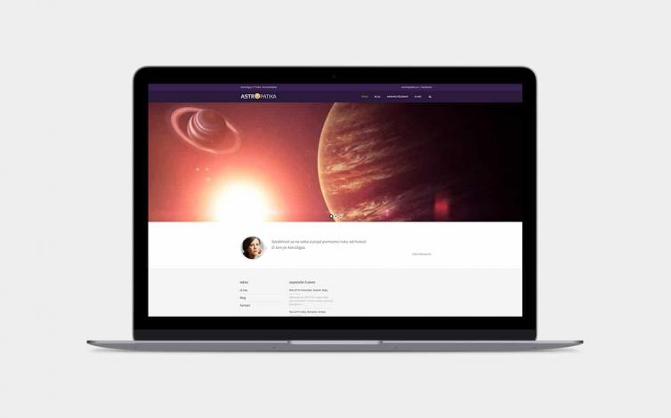 Tvorba web stránok - astropatika.sk