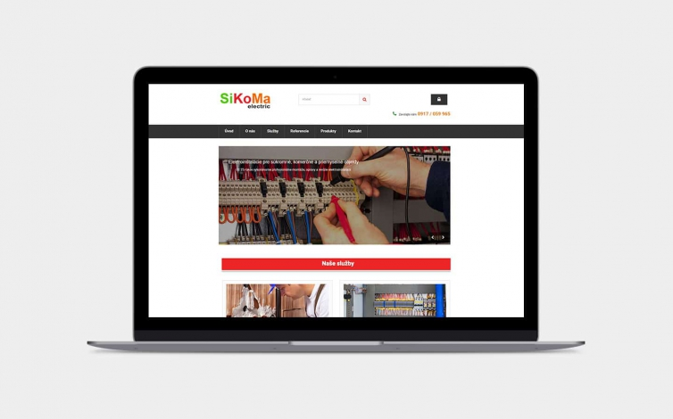 Tvorba web stránok - SiKoMa electric